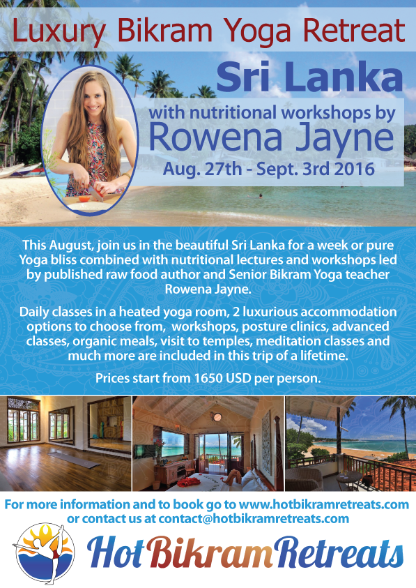 Luxury Sri Lanka Yoga Retreat with Rowena Jayne