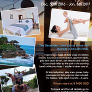 New Year's Hot Yoga & Pilates Retreat in Bali – Families & Single Parents with Babies & Kids Welcome